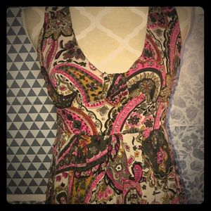Paisley multicoloured dress!